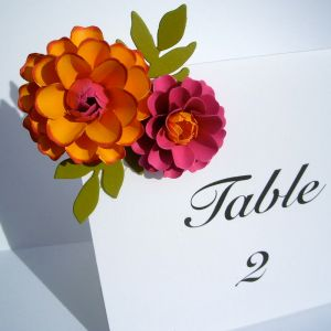 The Zinnia Table Number Cards