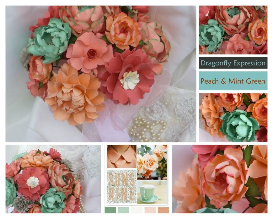 Peach & Mint Green
